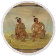 Two Choctaw Indians Round Beach Towel