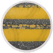 Two Country Yellow Round Beach Towel
