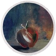 Two Dimensional Apple Round Beach Towel