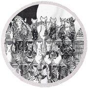 Two Dozen And One Cats Round Beach Towel