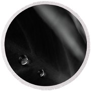 Two Drops Round Beach Towel