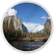 Two Falls Round Beach Towel
