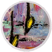 Two Flats Round Beach Towel by Anita Burgermeister