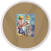 Two Hats Round Beach Towel