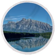 Two Jack Lake In The Morning Round Beach Towel