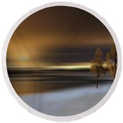 Two Loneliness Round Beach Towel