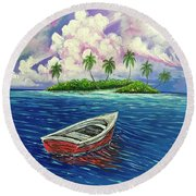 Two Lonely Companions Round Beach Towel