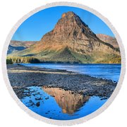 Two Medicine Reflections Round Beach Towel