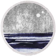 Two Moons Round Beach Towel