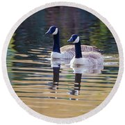 Two Of A Kind Round Beach Towel