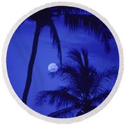 Two Palms Round Beach Towel