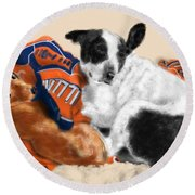 Two Peas In A Pod Round Beach Towel