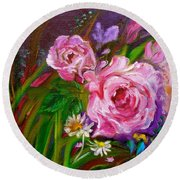Two Pinks Jenny Lee Discount Round Beach Towel