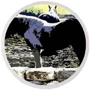 Two Ponies Round Beach Towel