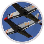 Two Pzl-130 Orlik Trainers Round Beach Towel