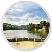 Two Rivers Confluence Park Round Beach Towel