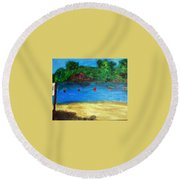 Two Rivers Round Beach Towel