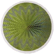 Two Saguaro Abstract #4496w3 Round Beach Towel