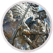 Two Soldiers Of The The African American Civil War Memorial -- The Spirit Of Freedom Round Beach Towel
