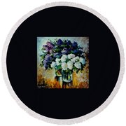 Two Spring Colors  Round Beach Towel