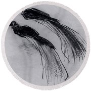 Two Studies Of A Bird Of Paradise 1630 Round Beach Towel