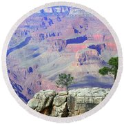 Two Tree Rock Round Beach Towel