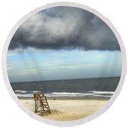 Tybee Island Storm Round Beach Towel