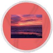 Tybee Island Sunset Round Beach Towel
