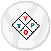 Typo Round Beach Towel