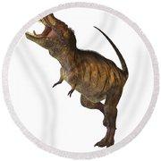Tyrannosaurus Rex Profile Round Beach Towel