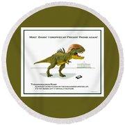 Tyrannosaurus Rump Round Beach Towel