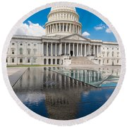 U S Capitol East Front Round Beach Towel