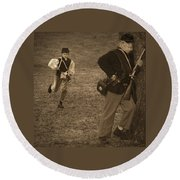 U. S. Civil War Messenger Boy On The Run Round Beach Towel