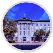 U S Custom House - New Orleans Round Beach Towel