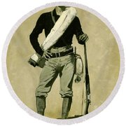 U. S. Soldier, Spanish-american War Round Beach Towel