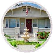 Suburban Arts And Crafts Hayward California 18 Round Beach Towel