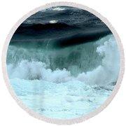 Ucluelet Breaking Waves Round Beach Towel