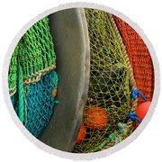 Ucluelet Fishing Nets Round Beach Towel