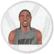 Udonis Haslem Round Beach Towel