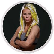 Ufc Fighter Paige Van Zant Round Beach Towel