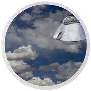Ufo Sighting Round Beach Towel
