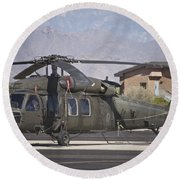 Uh-60 Black Hawk Helicopter At Pinal Round Beach Towel