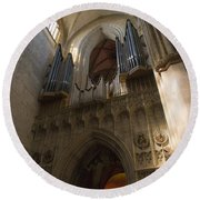 Ulm Cathedral Round Beach Towel