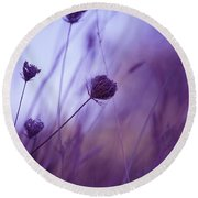 Ultra Violet Botanical Round Beach Towel