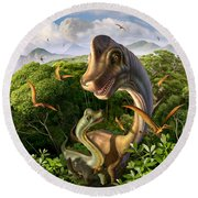 Ultrasaurus Round Beach Towel