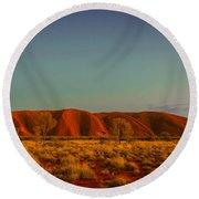 Uluru/ayers Rock Round Beach Towel