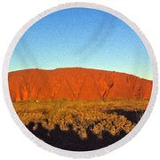 Uluru Round Beach Towel