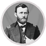 Ulysses S Grant Round Beach Towel by War Is Hell Store