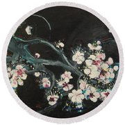 Ume Blossoms2 Round Beach Towel