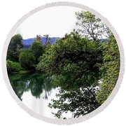 Umpqua River Round Beach Towel